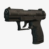 3d model walther p22 pistol