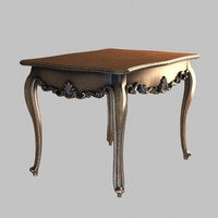table decorated 3d model