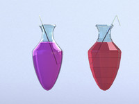 3d model of juice glass