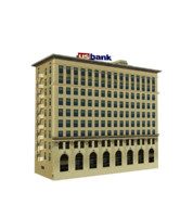free bank building 3d model