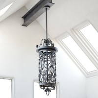 scorpius lantern chandelier lighting fixture 3d max