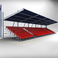stadium seating tribune 2 3d 3ds