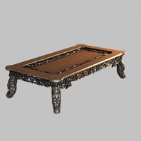 table decorated 3d max
