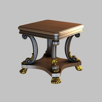 3d model table decorated