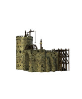 3d castle construction model
