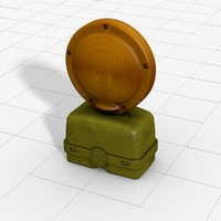 barricade flasher 3d model