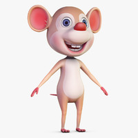 Cartoon Mouse No Rig
