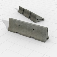 concrete crash barrier 3ds