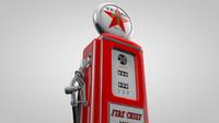 old gas pump c4d