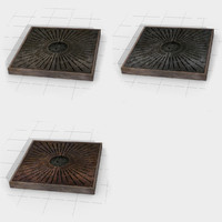 tree planter grates landscape 3d model
