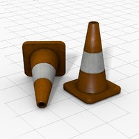 3d 3ds road cone