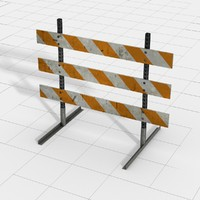 3d type iii construction barricade model