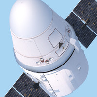 dragon spacex space nasa 3d model