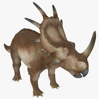 triceratops dinosaur rigged 3d model