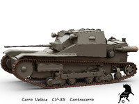 Carro Veloce CV-35 Contracarro version