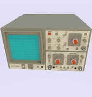 oscilloscope scope 3d model