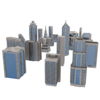 city buildings 3d 3ds