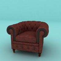 Chesterfield Armchair Red Leather