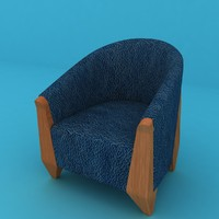 Armchair Game Ready With Lods Blue Leather