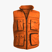 qualitative freestyle gilet orange 3d model