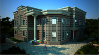 house neoclassical 3d max