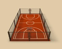 3d basketball platform project model
