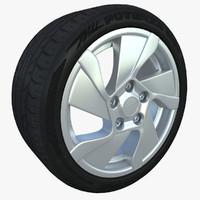 bridgestone potenza 3d model