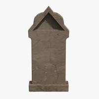 3ds max grave gravestone