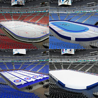 3d model of winter sports arena