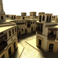 3d model of village iraq
