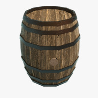 barrel bucket 3d model