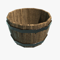 3d barrel bucket model