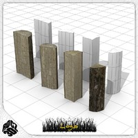 free log split 3d model