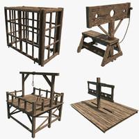 3ds max gallows cage stocks