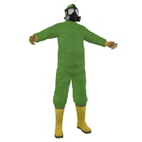hazmat worker man 3d max