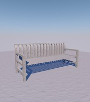 Free low poly animated bench