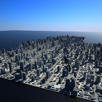 3d cityscape scene office buildings