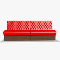 3d restaurant bar sofa chair