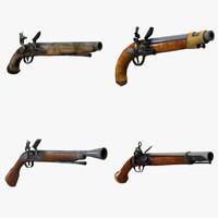 3dsmax weapon gun pistol