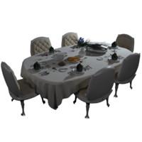 3d model table neoclassic