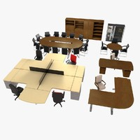 3d office pack v1 model