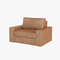 3d armchair realistic model