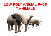 3d model of animal pack
