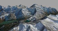 realistic terrain grossglockner obj