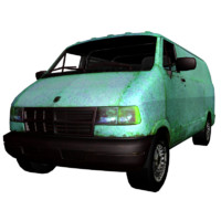 3d model poison van car