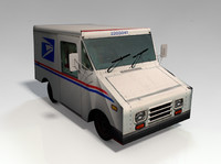 3ds max mail truck