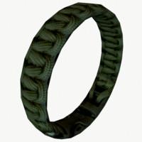 3ds max paracord bracelet