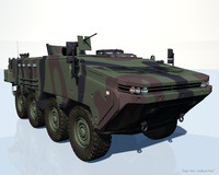 3d model arma 8x8 vehicle apc