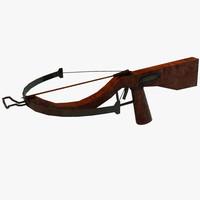 3d crossbow cross bow model