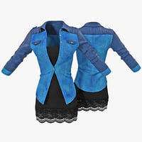 3d jeans jacket dress